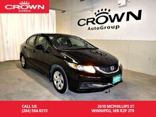 2015_Honda_Civic Sedan_LX/low kms/ back up camera/ heated seats/ econ mode_ Winnipeg MB