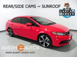 2015_Honda_Civic Sedan Si_*6-SPEED, BACKUP-CAMERA, LANEWATCH, MOONROOF, TOUCH SCREEN, BLUETOOH PHONE & AUDIO_ Round Rock TX