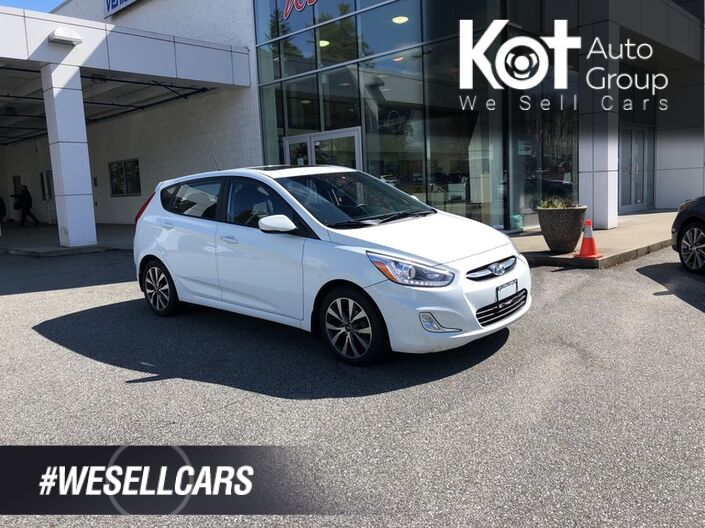 2015 Hyundai ACCENT GLS! HATCHBACK! MANUAL! SUNROOF! BLUETOOTH! HEATED SEATS! 1 OWNER! Penticton BC