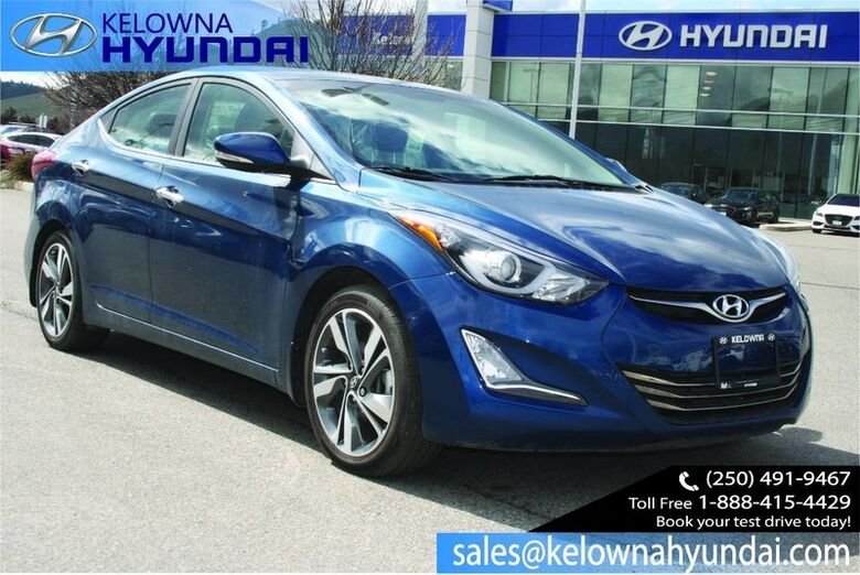 2015 Hyundai Elantra Limited Leather, Sunroof, Nav, back up cam Kelowna BC