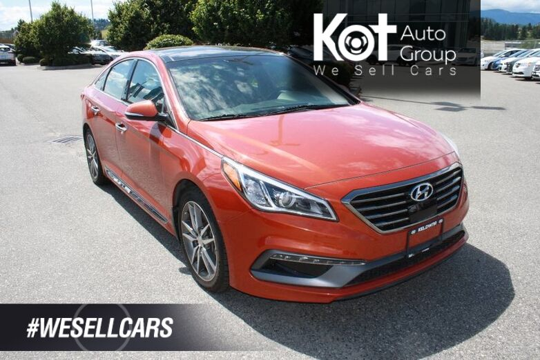 2015 Hyundai Sonata 2.0T Ultimate w/Colour Pack Backup camera,Leather,sunroof, Navig Kelowna BC