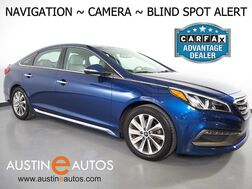 2015_Hyundai_Sonata 2.4L Sport_*NAVIGATION, BLIND SPOT ALERT, BACKUP-CAMERA, TOUCH SCREEN, LEATHER, HEATED SEATS, KEYLESS ENTRY/START, BLUETOOTH PHONE & AUDIO_ Round Rock TX