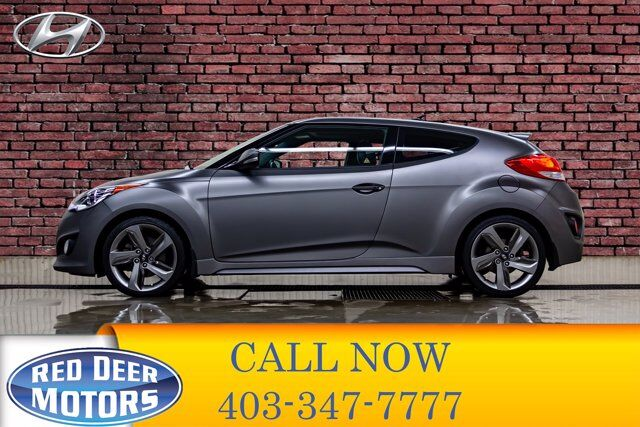2015 Hyundai Veloster Turbo Tech Leather Roof Nav Red Deer AB