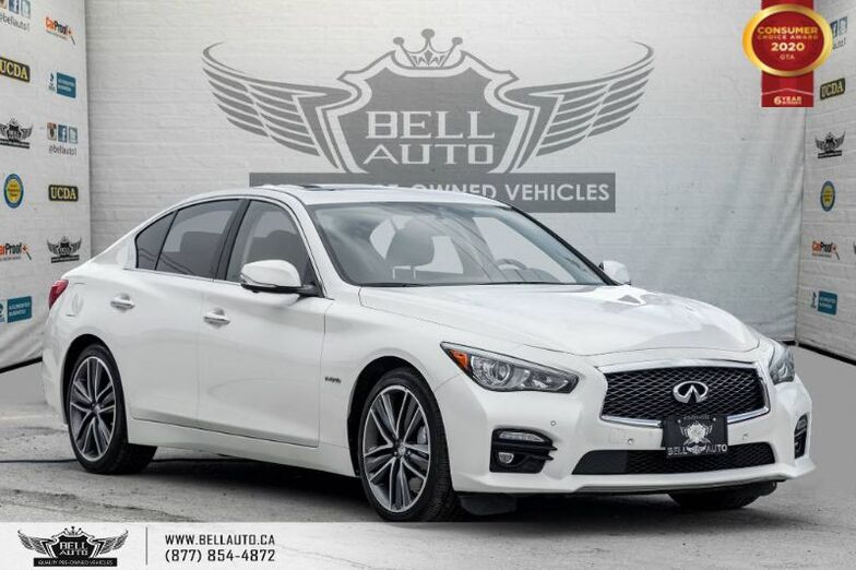 2015 INFINITI Q50 Hybrid, NO ACCIDENTS, AWD, NAVI, REAR CAM, LEATHER. Toronto ON