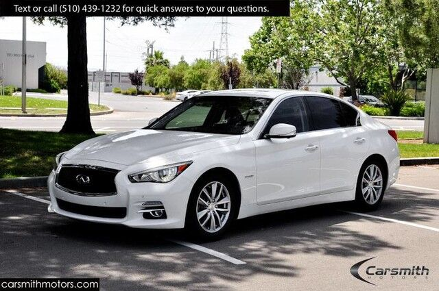 2015 INFINITI Q50 Hybrid Premium RARE $5,000 Deluxe Technology Package & CPO Certified! Fremont CA