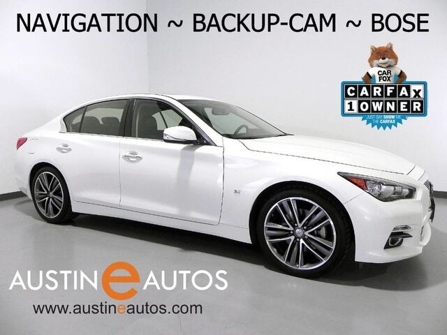 2015 INFINITI Q50 Premium *NAVIGATION, BACKUP-CAMERA, BOSE, HEATED SEATS, MOONROOF, BLUETOOTH PHONE & AUDIO Round Rock TX