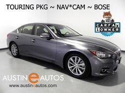 2015_INFINITI_Q50 Premium_*NAVIGATION, DELUXE TOURING, SURROUND-CAMERAS, LEATHER, HEATED SEATS, MOONROOF, BOSE, BLUETOOTH_ Round Rock TX