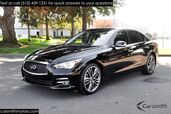 2015 INFINITI Q50 Premium Navigation, 19-inch Sport Wheels and CPO Certified!