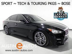 2015_INFINITI_Q50 Sport_TECH & TOURING PKGS, NAVIGATION, BLIND SPOT ALERT, COLLISION ALERT w/BRAKING, ADAPTIVE CRUISE, SURROUND VIEW MONITOR, LEATHER, MOONROOF, BOSE AUDIO_ Round Rock TX