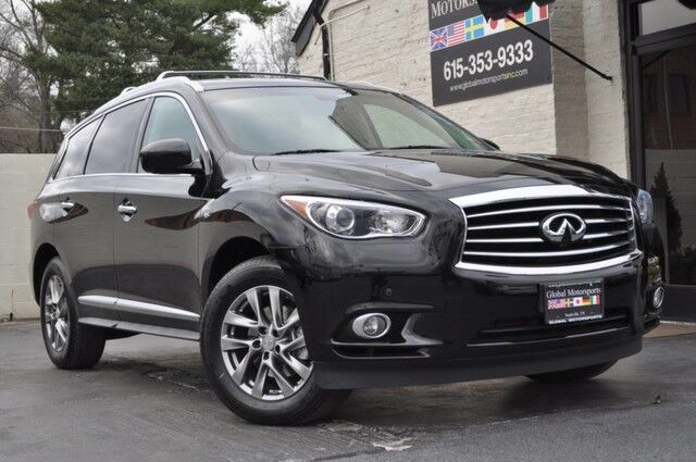 2015 INFINITI QX60 AWD/Premium Plus Pkg w/ Navigation, AroundView Monitor/Technology Pkg w/ Blind Spot Intervention, Lane Departure Prevention/Maple Accent Pkg/Heated Front Seats/Heated Steering Wheel/3rd Row Seating/Remote Start Nashville TN