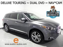 2015_INFINITI_QX60_*DELUXE TOURING PKG, NAVIGATION, SURROUND CAMERAS, DUAL DVD, 3RD ROW, DUAL MOONROOFS, LEATHER, HEATED SEATS/STEERING WHEEL, BOSE AUDIO, BLUETOOTH_ Round Rock TX