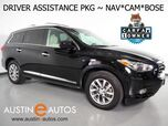 2015 INFINITI QX60 *NAVIGATION, BLIND SPOT ALERT, COLLISION WARNING w/BRAKE, SURROUND VIEW CAMERAS, ADAPTIVE CRUISE, MOONROOF, LEATHER, HEATED SEATS, BOSE, BLUETOOTH