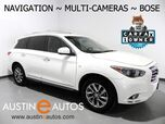 2015 INFINITI QX60 *NAVIGATION, SURROUND CAMERAS, MOONROOF, LEATHER, 3RD ROW SEATING, HEATED SEATS, BOSE AUDIO, BLUETOOTH PHONE & AUDIO