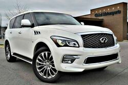 INFINITI QX80 4WD/Deluxe Technology Package w/ Navigation/22'' Wheels/Heated Seats & Heated St. Wheel/Navigation/360 Camera/Pwr 3rd Row Seats/Blind Spot Monitor/Very Clean! 2015