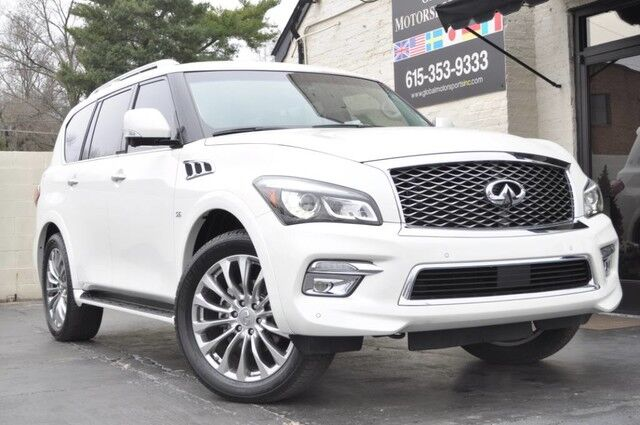 2015 INFINITI QX80 4WD/Deluxe Technology Package w/ Navigation, Heated Seats & Heated Steering Wheel/Driver's Assistance Package w/ Blind Spot Warning, Intelligent Cruise Control, 360* Cameras/22'' Wheel Package/Bose Audio Nashville TN