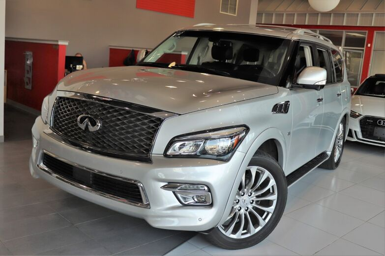 2015 INFINITI QX80 Theater Package Drivers Assistance 22 Inch Wheels Roof Rails Sunroof Blind Spot Navigation Springfield NJ