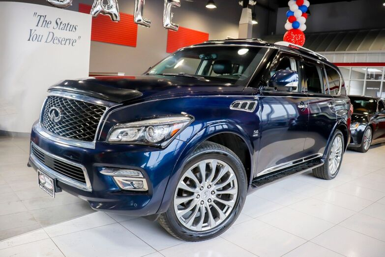 2015 INFINITI QX80 Theater Package Drivers Assistance Blind Spot 22 Inch Wheels Navigation Sunroof 1 Owner Springfield NJ