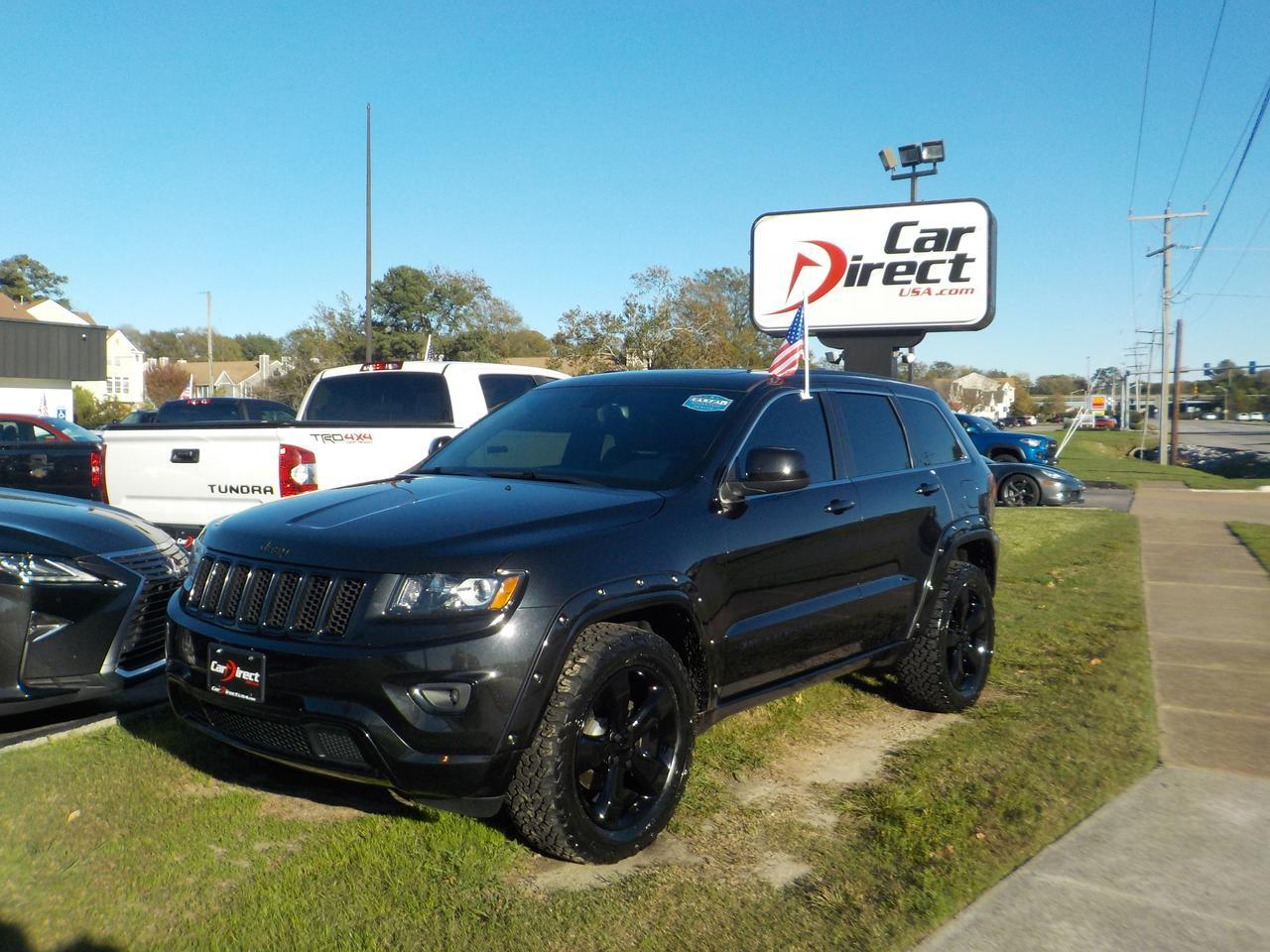 2015 JEEP GRAND CHEROKEE LAREDO 4X4, BLUETOOTH, REMOTE START, SUNROOF, HEATED SEATS, LEATHER, ONLY 62K MILES!