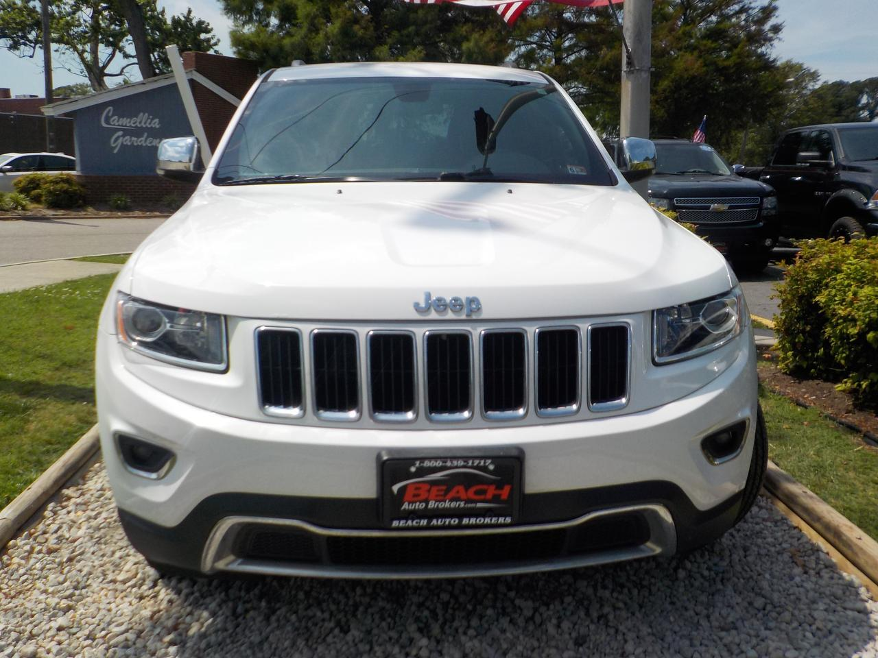 2015 JEEP GRAND CHEROKEE LIMITED 4X4, WARRANTY, LEATHER, NAV, HEATED SEATS, BACKUP CAM, REMOTE START, 1 OWNER! Norfolk VA
