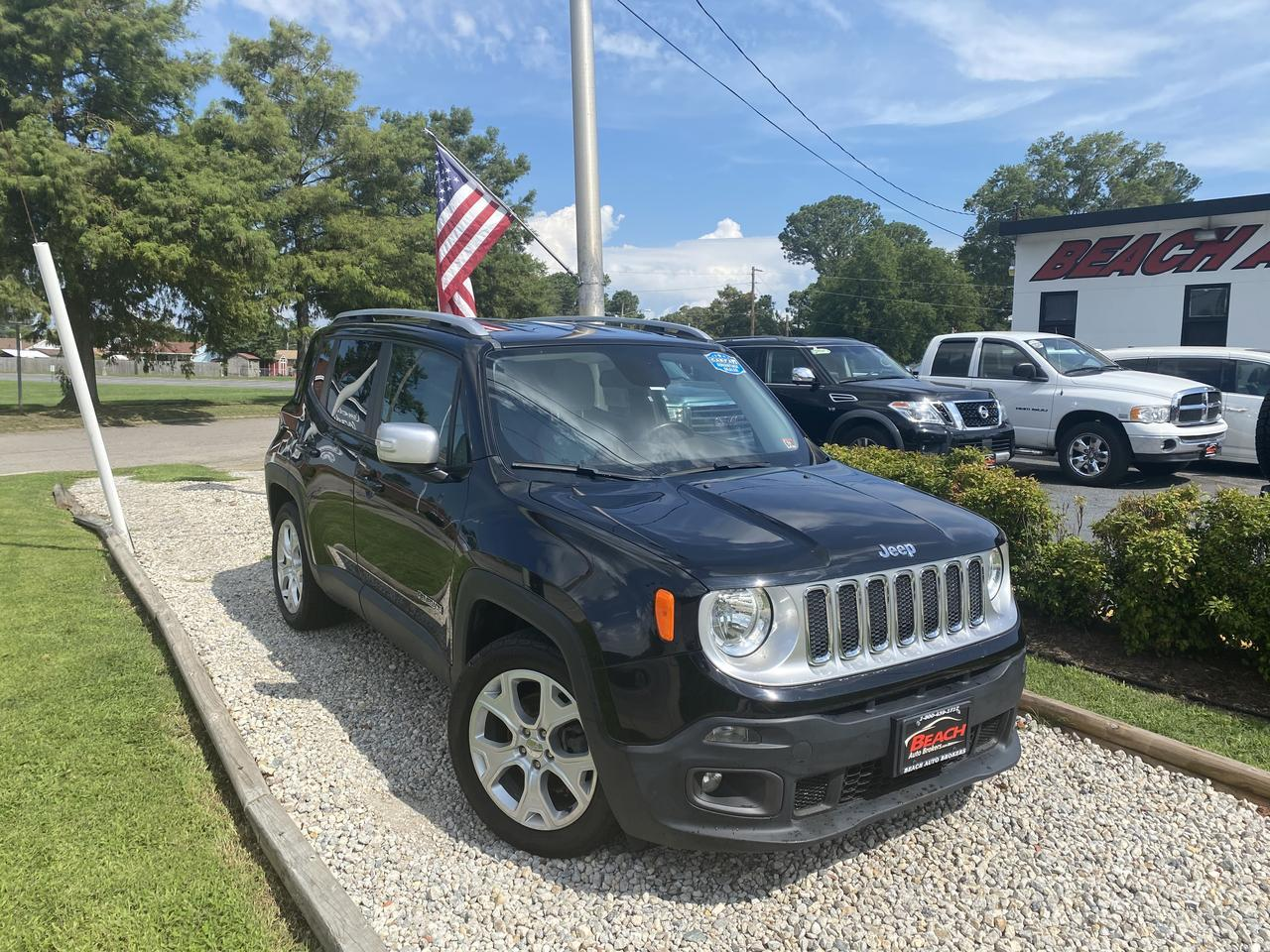 2015 JEEP RENEGADE LIMITED, WARRANTY, HEATED FRONT SEATS, HEATED STEERING WHEEL, BACKUP CAM, BLUETOOTH, 1 OWNER!