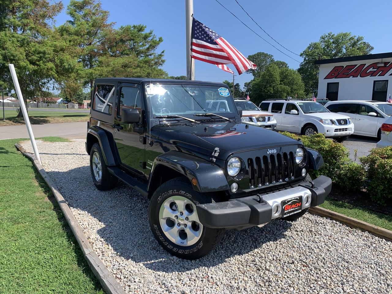 2015 JEEP WRANGLER SAHARA SPORT 4X4, WARRANTY, SIRIUS RADIO, HARD TOP, AUX PORT, 1 OWNER, CLEAN CARFAX! Norfolk VA