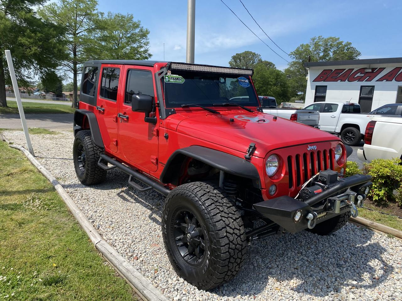 2015 JEEP WRANGLER UNLIMITED RUBICON 4X4, WARRANTY, LEATHER, NAV, HEATED SEATS, BLUETOOTH, AUX/USB PORT, CLEAN CARFAX! Norfolk VA