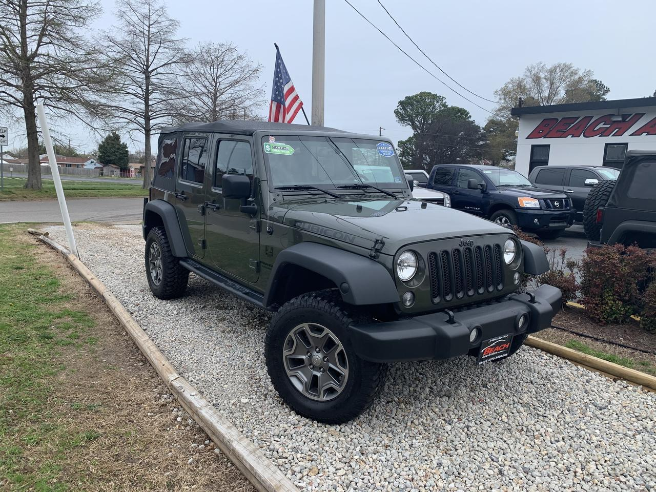 2015 JEEP WRANGLER UNLIMITED RUBICON 4X4, WARRANTY, NAV, SOFT TOP, UCONNECT, RUNNING BOARDS, 1 OWNER!