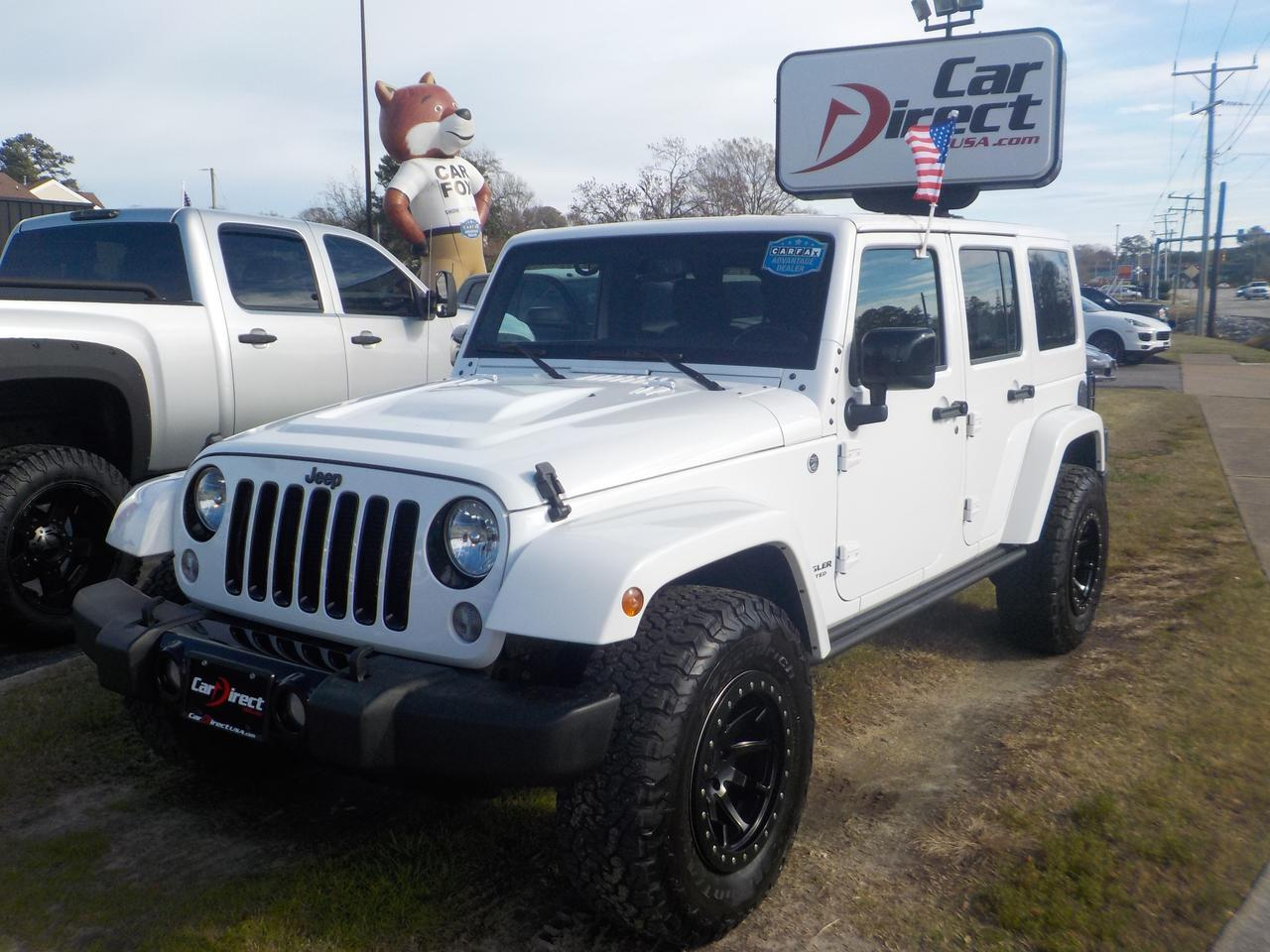 2015 JEEP WRANGLER UNLIMITED SAHARA 4X4, LEATHER, NAVI, DVD, HEATED SEATS, TOW PACKAGE, REMOTE START, ONLY 61K MILES! Virginia Beach VA