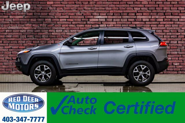 2015 Jeep Cherokee 4x4 Trailhawk Leather Nav BCam Red Deer AB
