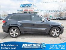 2015_Jeep_Grand Cherokee_4WD Overland V8, Panoramic Sunroof, Navigation, Remote Start, He_ Calgary AB
