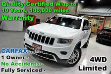 2015 Jeep Grand Cherokee Limited 4WD - CARFAX Certified 1 Owner - No Accidents - Fully Serviced - Quality Certified W/up to 10 Years, 100,000 miles Warranty