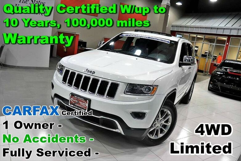 2015 Jeep Grand Cherokee Limited 4WD - CARFAX Certified 1 Owner - No Accidents - Fully Serviced - Quality Certified W/up to 10 Years, 100,000 miles Warranty Springfield NJ