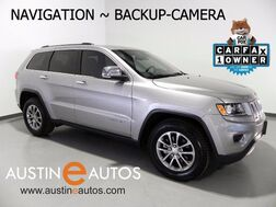 2015_Jeep_Grand Cherokee Limited_*NAVIGATION, BACKUP-CAMERA, TOUCH SCREEN, HEATED SEATS & STEERING WHEEL, BLUETOOTH AUDIO_ Round Rock TX