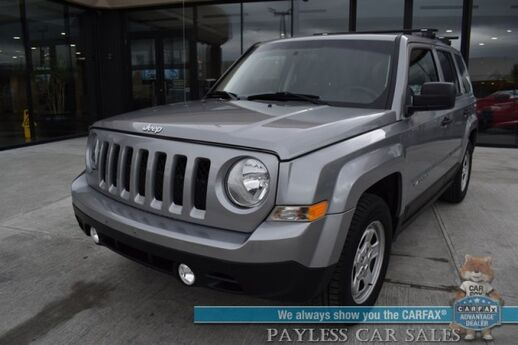 2015 Jeep Patriot Sport / 5-Spd Manual / Cruise Control / Air Conditioning / Aux Jack / YAKIMA Luggage Rack / 30 MPG Anchorage AK
