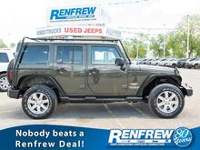 2015_Jeep_Wrangler Unlimited_4WD 4dr Sahara, Nav, Remote Start, Heated Leather Seats, Bluetooth, SiriusXM_ Calgary AB