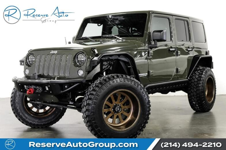 2015 Jeep Wrangler Unlimited Sahara American Force Whls LIFTED ADD Bumpers The Colony TX