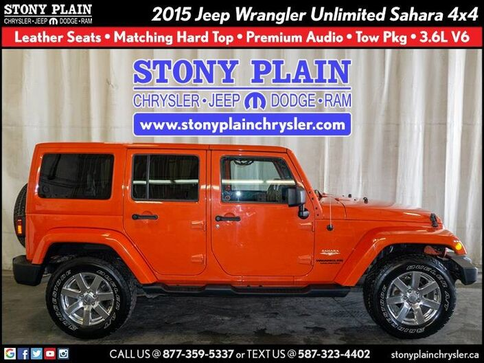 2015 Jeep Wrangler Unlimited Sahara Stony Plain AB