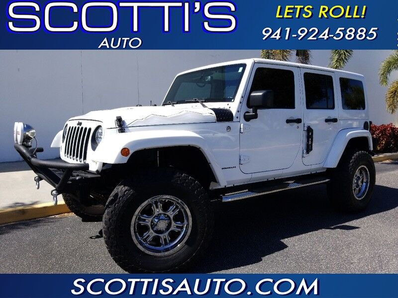 2015 Jeep Wrangler Unlimited Sahara~ X PACKAGE HARD TOP~ 4X4~ LIFTED~ CUSTOM WHEELS~ ONLY 32K MILES~ CLEAN CARFAX~ AWESOME JEEP~ FINANCE AVAILABLE! Sarasota FL