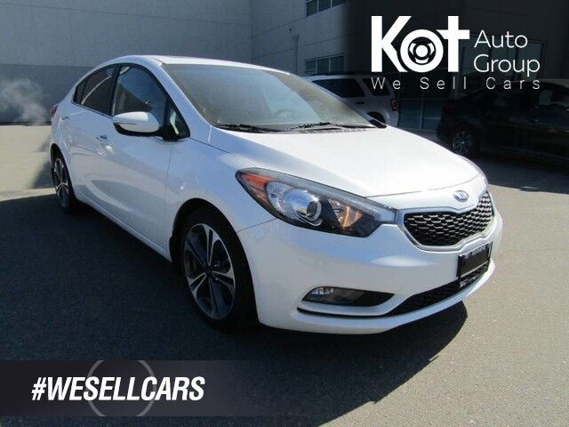 2015 Kia Forte SX! LEATHER! NAV! SUNROOF! HEATED & COOLING SEATS! SUPER LOW KMS! RARE PIECE! Kelowna BC