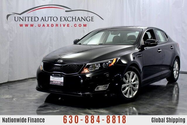 2015 Kia Optima 2.4L Engine FWD EX w/ Sunroof, Heated Leather Seats, Bluetooth Connectivity, Push Start Button, Rear View Camera, Infinity Sound System Addison IL