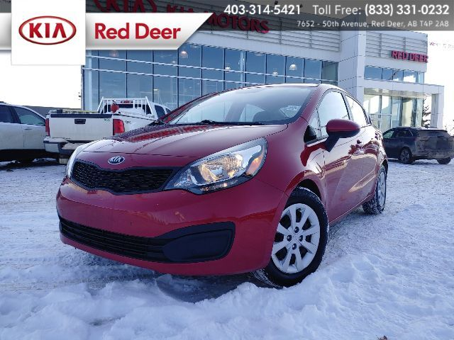2015 Kia Rio LX+ Active Eco, Sirius, Bluetooth, Heated Front Seats Red Deer AB