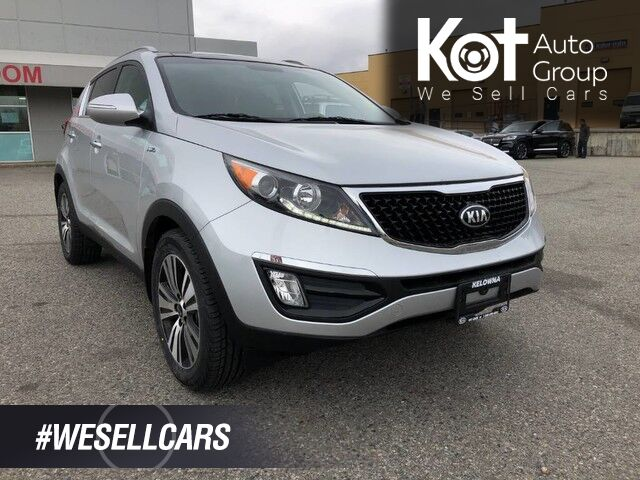 2015 Kia Sportage EX w/Luxury Pkg, Navigation, Back-Up Camera, Bluetooth, Sunroof, Heated/Vented Front Seats. Kelowna BC