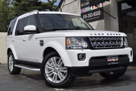 2015 Land Rover LR4 HSE LUXURY/AWD/Navigation/Vision Assist Pkg/Climate Comfort Pkg w/ Heated Seats/Cooler Box/Ambient Lighting/Heated Wood & Leather Steering Wheel/Meridian Sound/Tri Roofs/Third Row Seating Nashville TN