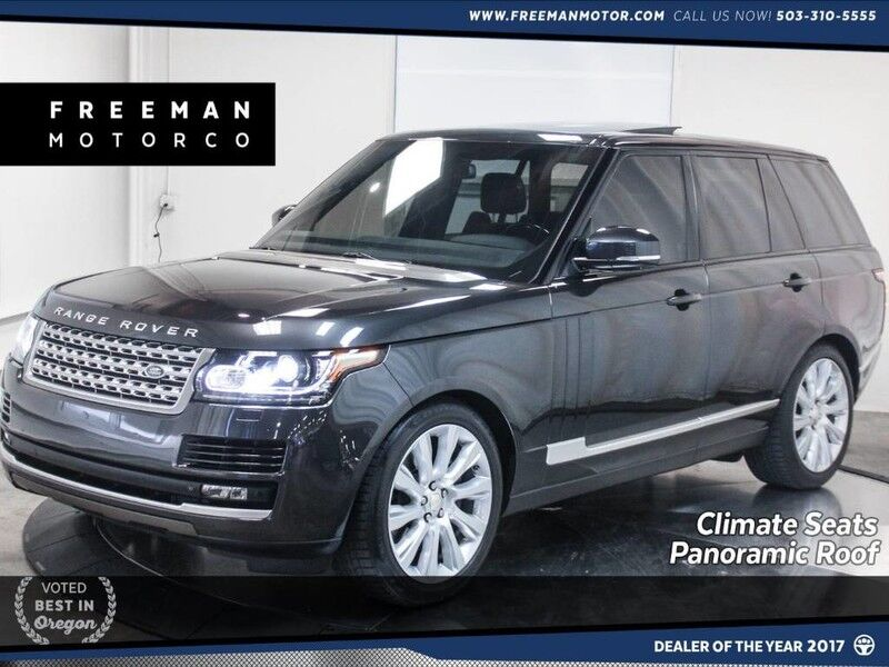 2015 Land Rover Range Rover S/C V8 4WD Climate Seats Pano Portland OR