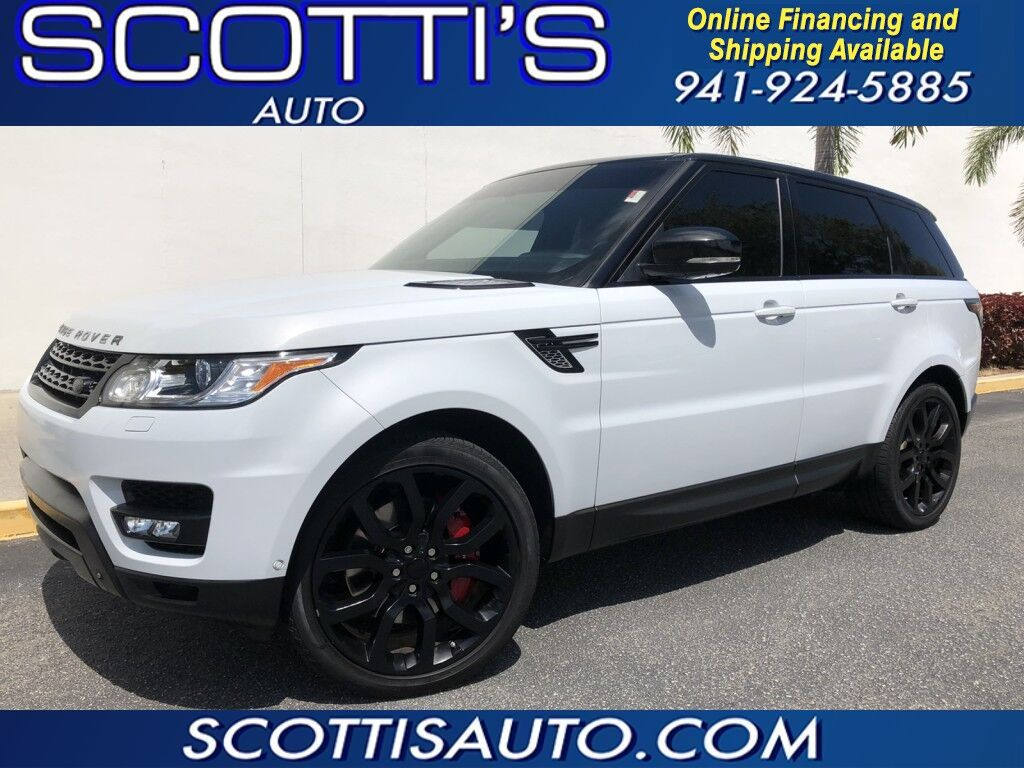 2015 Land Rover Range Rover Sport Supercharged ~1-OWNER~ CLEAN CARFAX~ WHITE/ BLACK LEATHER~ LOOKS AND RUNS GREAT!~ WE OFFER ONLINE FINANCE AND SHIPPING! APPLY TODAY! Sarasota FL