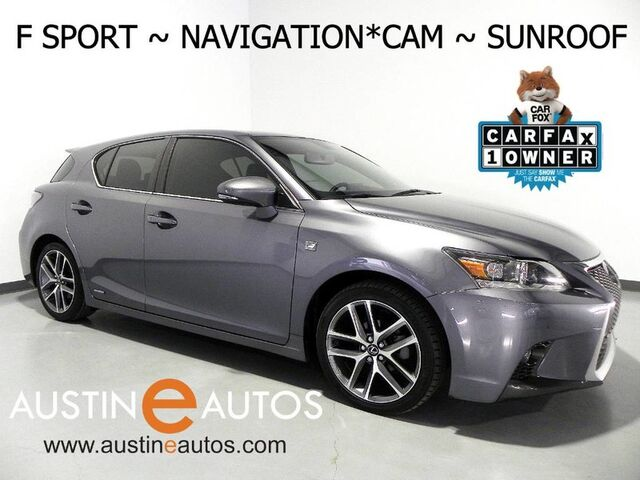 2015 Lexus CT 200h Hybrid *F SPORT PKG, NAVIGATION, BACKUP-CAMERA, MOONROOF, HEATED SEATS, BLUETOOTH PHONE & AUDIO Round Rock TX