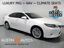 2015_Lexus_ES 350_*NAVIGATION, LUXURY PKG, BLIND SPOT ALERT, BACKUP-CAM, CLIMATE SEATS, MOONROOF, BLUETOOTH AUDIO_ Round Rock TX