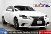 2015 Lexus IS 250 F SPORT NAVIGATION PACKAGE BLIND SPOT MONITORING SUNROOF LEATHER REAR CAMERA