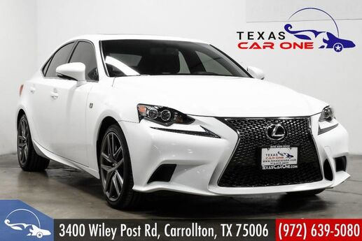 2015 Lexus IS 250 F SPORT NAVIGATION PACKAGE BLIND SPOT MONITORING SUNROOF LEATHER REAR CAMERA Carrollton TX