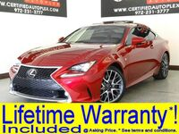 Lexus RC 350 F-SPORT NAVIGATION MARK LEVINSON AUDIO SUNROOF NAVIGATION REAR CAMERA BLIND 2015